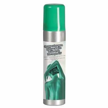 Groene hair en body paint glow in the dark