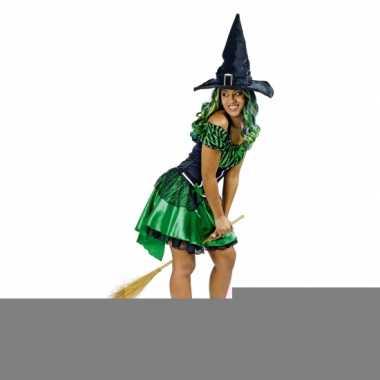 Groene heksenjurk met korte rok