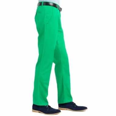 Groene heren broek van katoen