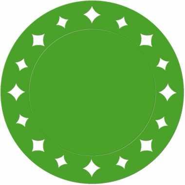 Groene kartonnen placemats 33 cm