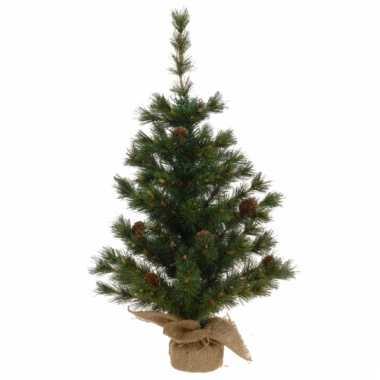 Groene kerstboom knoppine 60 cm