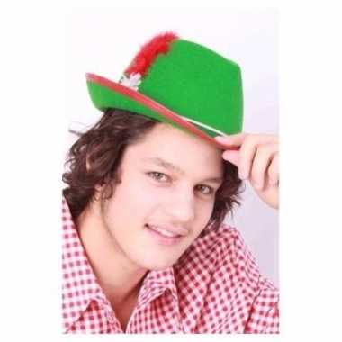 Groene oktoberfest hoed tiroler