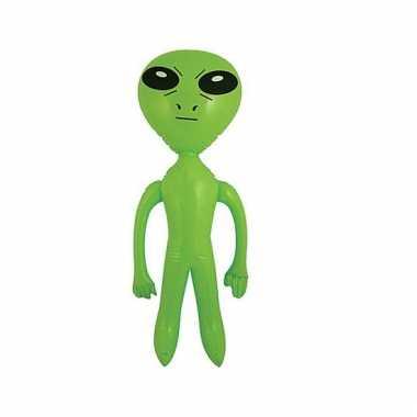 Groene opblaasbare alien