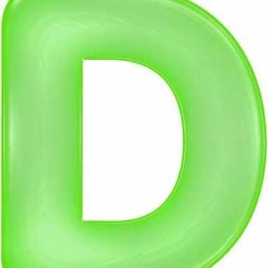 Groene opblaasbare letter d