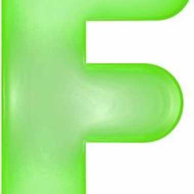 Groene opblaasbare letter f