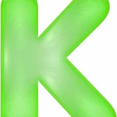 Groene opblaasbare letter k