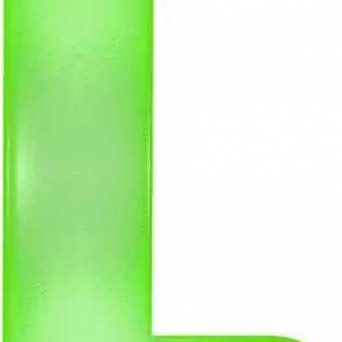 Groene opblaasbare letter l