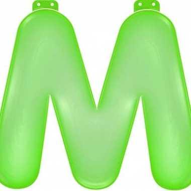 Groene opblaasbare letter m