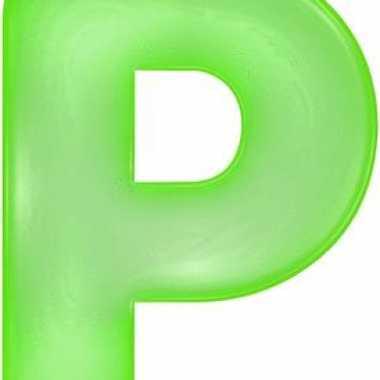 Groene opblaasbare letter p