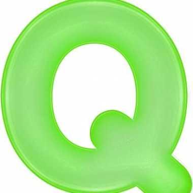 Groene opblaasbare letter q