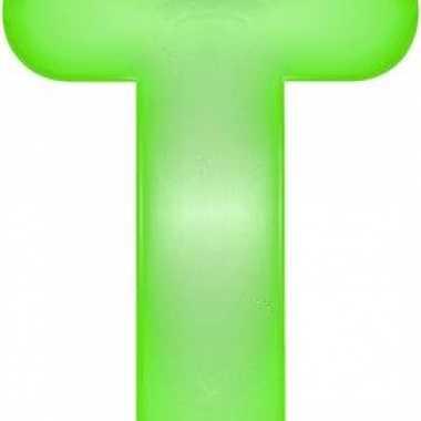 Groene opblaasbare letter t