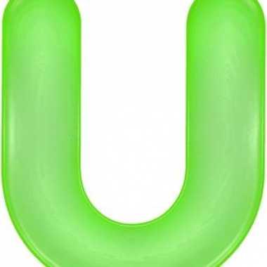 Groene opblaasbare letter u
