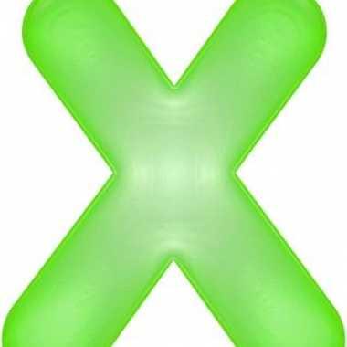 Groene opblaasbare letter x