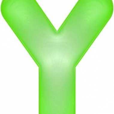 Groene opblaasbare letter y