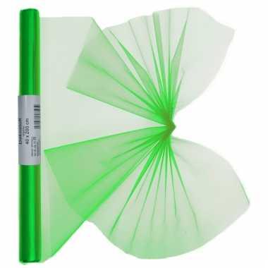 Groene organza op rol 40 x 200 cm