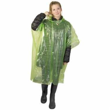 Groene regen ponchos voor volwassenen