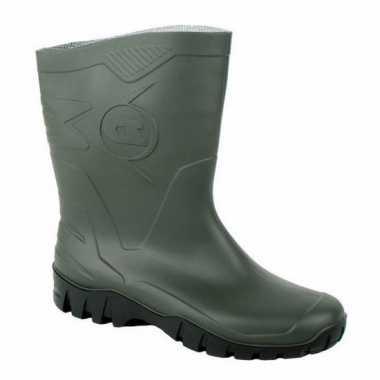 Groene rubber laarzen voor dames