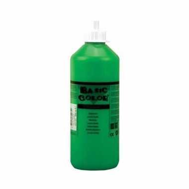 Groene schoolverf in tube 500 ml