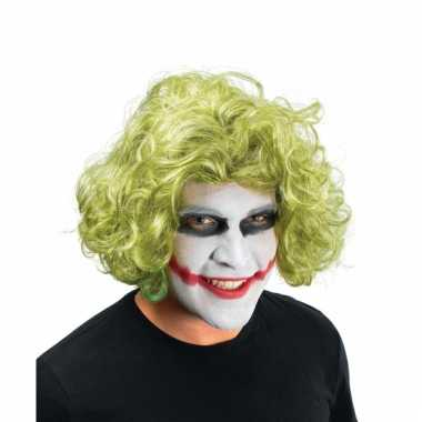 Groene the joker pruik