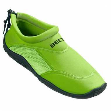 Groene waterschoenen/ surfschoenen volwassenen