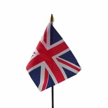 Groot brittannie luxe zwaaivlaggetje polyester