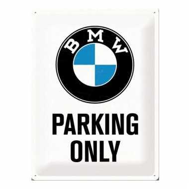 Groot metalen bord bmw parking only 30 cm