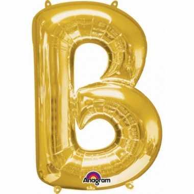 Grote letter ballon goud b 86 cm