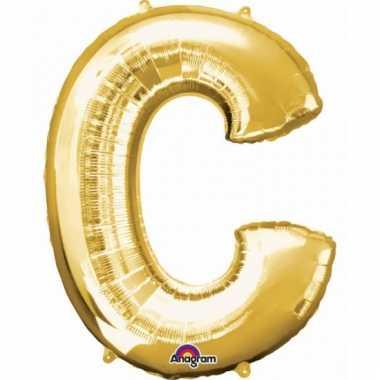 Grote letter ballon goud c 86 cm