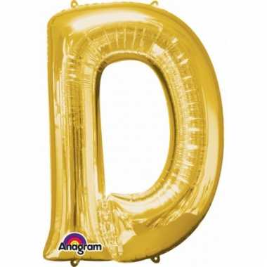 Grote letter ballon goud d 86 cm