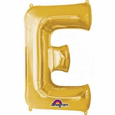 Grote letter ballon goud e 86 cm