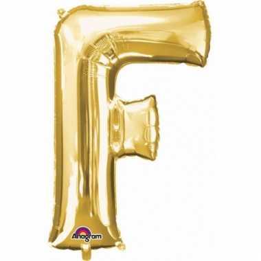 Grote letter ballon goud f 86 cm