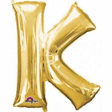 Grote letter ballon goud k 86 cm