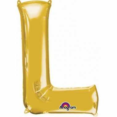 Grote letter ballon goud l 86 cm