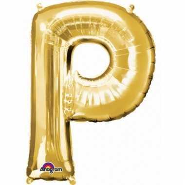 Grote letter ballon goud p 86 cm