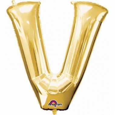 Grote letter ballon goud v 86 cm