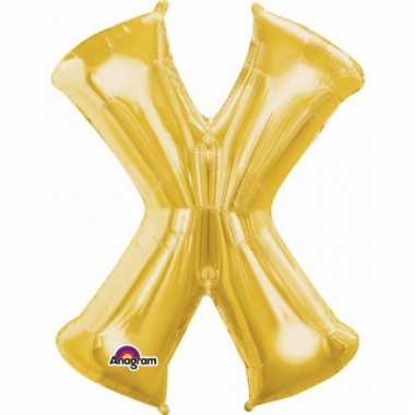 Grote letter ballon goud x 86 cm