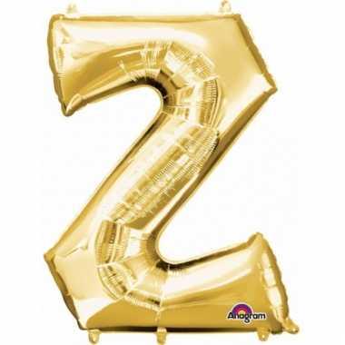 Grote letter ballon goud z 86 cm