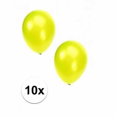 Grote metallic lime ballonnen 10x
