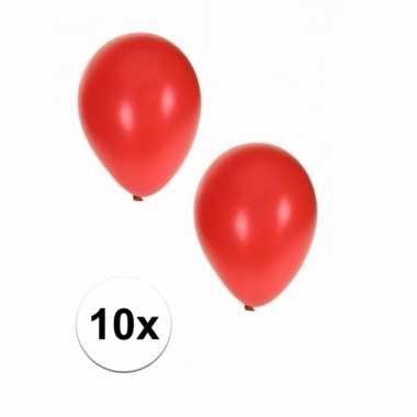 Grote metallic rode ballonnen 10x