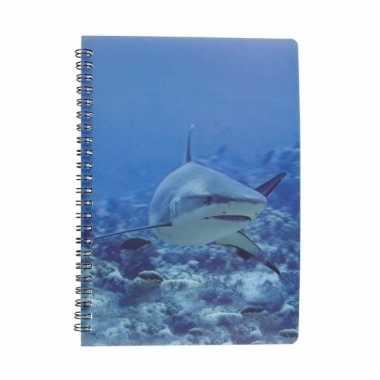 Haaien schrijfboekje 3d 21cm