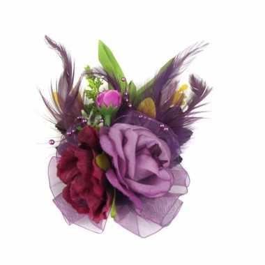 Haarbloemen met klem paars