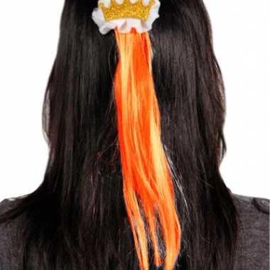 Haarspeld met oranje haar
