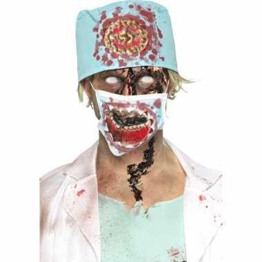 Halloween chirurg verkleedset met bloed