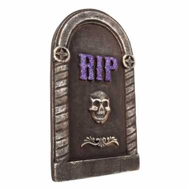 Halloween decoratie ronde grafstenen 40 cm