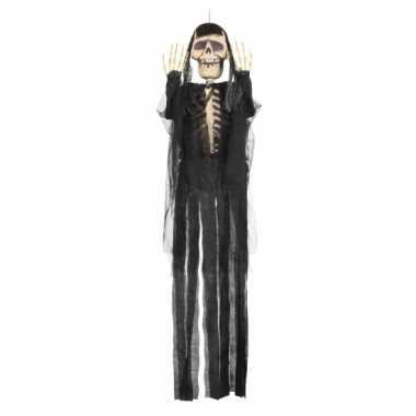 Halloween decoratie skelet 150 cm