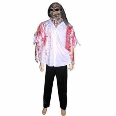 Halloween griezel masker met blouse