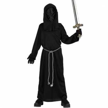 Halloween jongens verkleedkleding zwarte dienaar