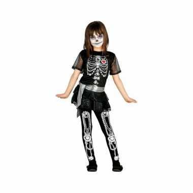 Halloween juwelen skelet jurk voor meisjes