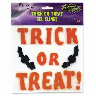 Halloween raamstickers snoep of je leven