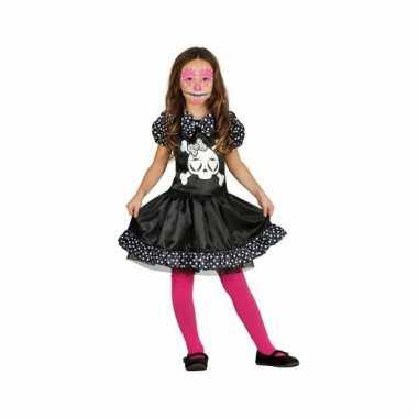 Halloween skelet jurk met stippen voor meisjes